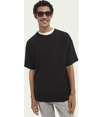 scotch & soda relaxed cotton-blend knitted tee