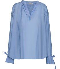 shirt blouse lange mouwen blauw replay