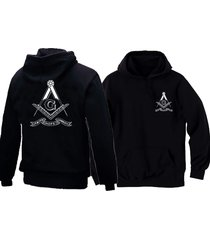 masonic freemasons symbols square &compasses faith hope charity black hoodie