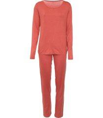 pijama lupo liso coral
