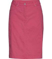 casual skirt knälång kjol rosa brandtex