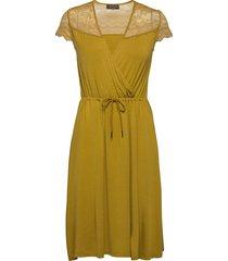 dress ss knälång klänning grön rosemunde