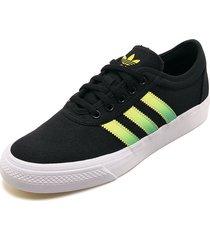 tenis lifestyle negro-amarillo-verde  adidas originals adi- ease