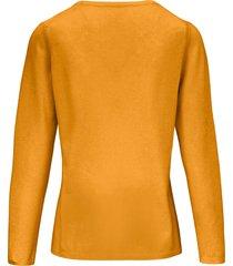 trui van scheerwol en kasjmier met ronde hals van include geel