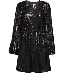 romy sequins korte jurk zwart line of oslo