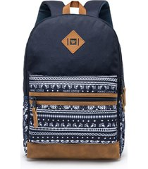 mochila azul escuro unissex hang loose blue jeans