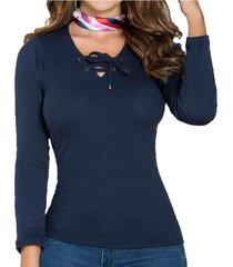 envío gratis blusa lianna azul oscuro para mujer croydon