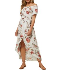 o'neill juniors' conners off-the-shoulder midi dress