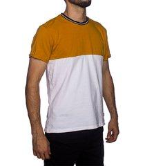camiseta multicolor frank pierce cortes mostaza x2110