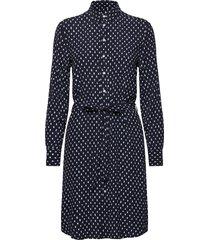 d1. desert jewel print shirt dress kort klänning blå gant