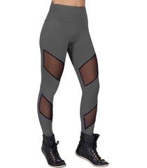 calça legging dily modas com tule cinza 0017