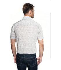 koszula bexley 2836 krótki rękaw custom fit beż