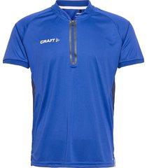 pro control impact polo m t-shirts short-sleeved blå craft