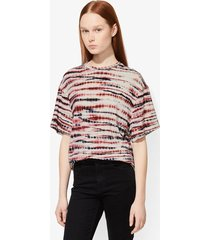 proenza schouler tie dye short sleeve t-shirt blush/burgundy/black/multicolour xs