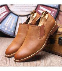 scarpe oxford in cuoio