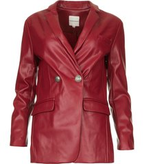 faux leather blazer blingrine  rood