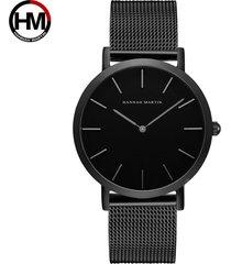 reloj de correa de malla de acero inoxidable-gris
