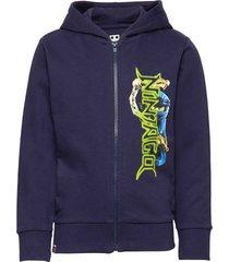 cm-51137 - sweat cardigan hoodie blå lego wear