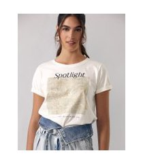 amaro feminino t-shirt spotlight, off-white