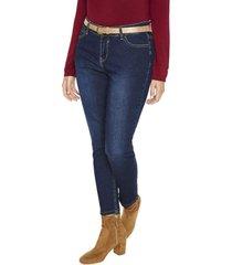 jeans pierna recta liso azul curvi