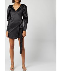 rotate birger christensen women's number 31 dress - black - dk 40/uk 14