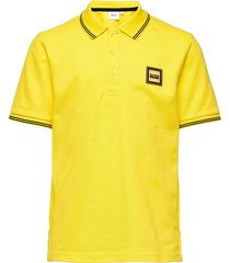 short sleeve polo t-shirts polo shirts geel boss
