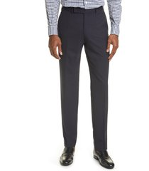 men's ermenegildo zegna high performance wool dress pants, size 42 us - blue