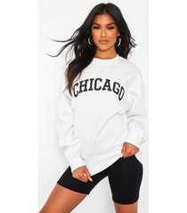 oversized chicago sweater, wit