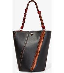 proenza schouler bungee crochet medium hex bucket bag black one size