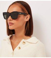 le specs women's total eclipse square sunglasses - black