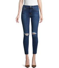 joe's jeans women's mid-rise destroyed skinny ankle jeans - los feliz - size 27 (4)