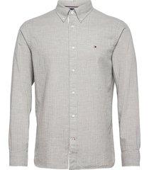 cotton cashmere shirt skjorta casual grå tommy hilfiger