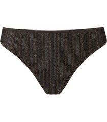 gloria 4 cm string | tweed print - xs