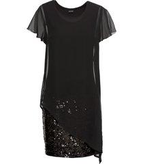 abito elegante in jersey con paillettes (nero) - bodyflirt
