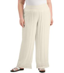 jm collection plus size gauze pants, created for macy's