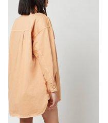see by chloéwomen's oversized shirt jacket - delicate pink - eu 38/uk 10