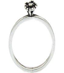 anel  flor melissa de   prata 925