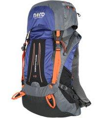 mochila cargueira nord outdoor - 45 litros - azul esc/laranja