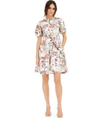 inc petite cotton puff-sleeve dress, created for macy's