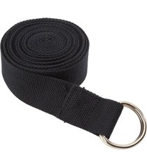 everyday yoga 10 foot strap d-ring black nylon