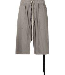 rick owens drkshdw drop-crotch shorts - grey