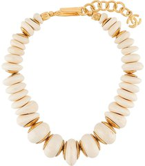 chanel pre-owned 1996 chunky charm necklace - neutrals