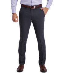 kenneth cole reaction men's slim-fit 2-way stretch herringbone stripe dress pants