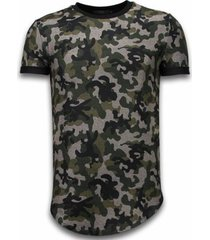 t-shirt korte mouw justing camouflaged fashionable long fi army pattern