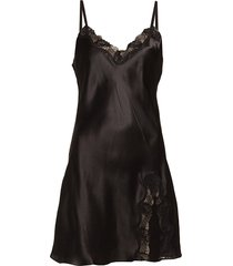 slip with lace nachthemd zwart lady avenue