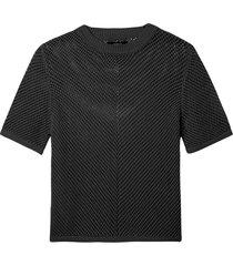 blusa rosa chá sila tricot preto feminina (black, gg)