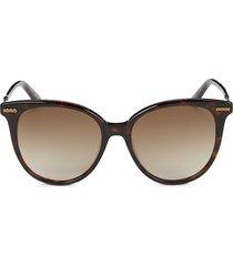 bottega veneta women's 53mm cat eye sunglasses - havana brown