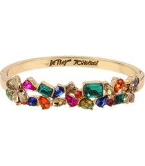 betsey johnson butterfly stone cluster bangle bracelet