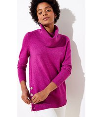 loft side button cowl tunic sweater