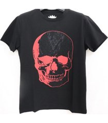 heads or tails 3d graphic dual color studded t-shirt